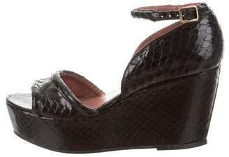 Derek Lam Python Ankle Strap Sandals