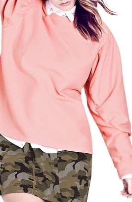 City Chic Girl Power Statement Sleeve Top