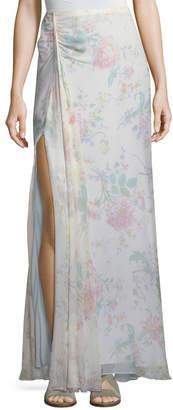 Ralph Lauren Victoria Floral-Print A-Line Silk Maxi Skirt