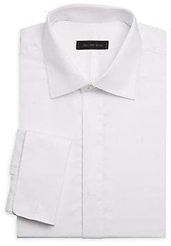 Saks Fifth Avenue Twill French Cuff Dress Shirt