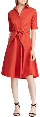 Ralph Lauren Tie-Front Shirt Dress