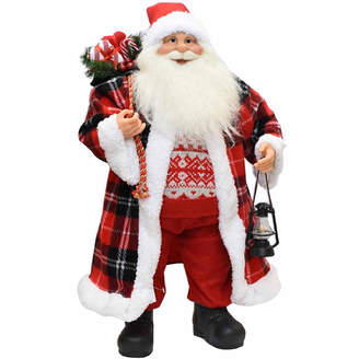 Asstd National Brand 24.5 Santa Claus with Checked Coat