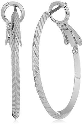 Anne Klein Medium Diamond Cut Hoop Earrings