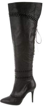 Tabitha Simmons Leather Over-The-Knee Boots