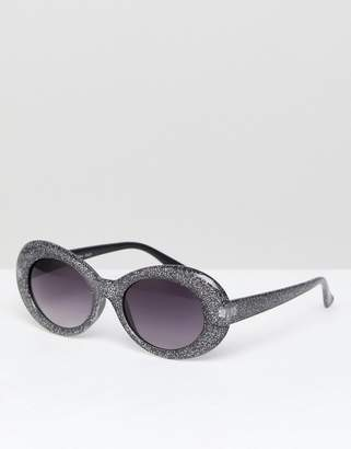 A. J. Morgan Aj Morgan Cat Eye Sunglasses In Black Glitter