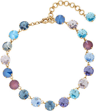 Swarovski Roxanne Assoulin Watercolor Ocean Crystal Gold-Tone Necklace
