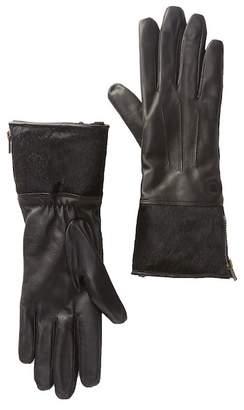 UGG Genuine Sheepskin & Genuine Calf Hair Leather Tech Gloves