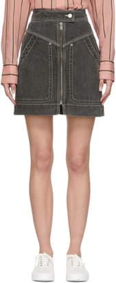 Etoile Isabel Marant Black Denim Ioline Miniskirt