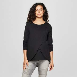 Ingrid & Isabel Isabel Maternity by Maternity Long Sleeve Cross-Panel Nursing Top - Isabel Maternity by
