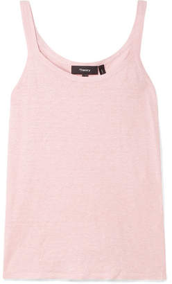 Theory Linen-blend Tank - Pastel pink