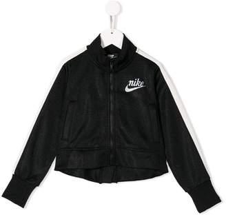 Nike stripe detail track jacket