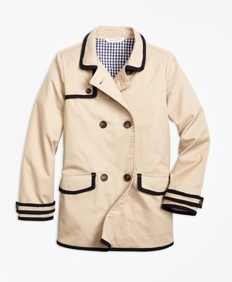 Brooks Brothers Girls Water-Resistant Cotton-Blend Trench Coat