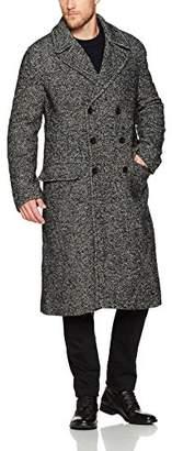 French Connection Men's Heavy Herringbone Long Coat
