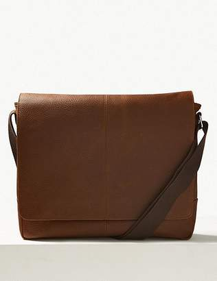 Marks and Spencer Pebble Grain Leather Messenger