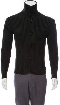 Etro Mock Neck Wool Cardigan