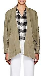 Greg Lauren Women's Cotton Ripstop Kimono Jacket - Army