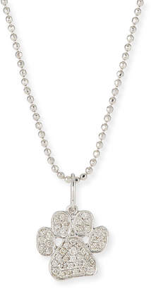 Sydney Evan 14k White Gold & Diamond Paw Pendant Necklace, 16