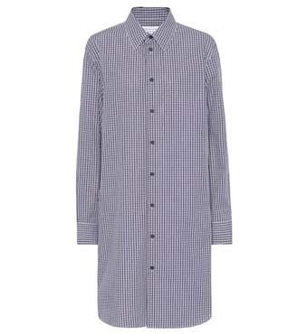 Maison Margiela Checked cotton shirt dress
