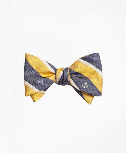 Brooks Brothers Nautical Stripe Bow Tie