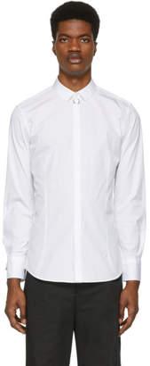 Neil Barrett White Nickel Pierced Shirt