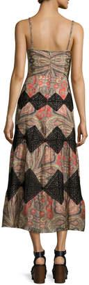 Vilshenko Paisley Scarf-Print Midi Dress