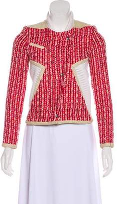 IRO Aubrey Leather-Trimmed Jacket