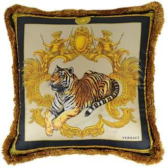Versace Tigris Silk Printed Silk Pillow