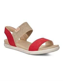 Ecco Damara Sandal Chili Red/Powder Cha/Samba