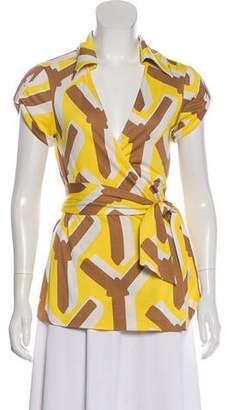 Diane von Furstenberg Jilda Short Sleeve Top