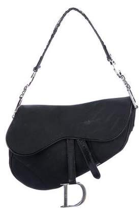 Christian Dior Leather-Trimmed Nylon Saddle Bag