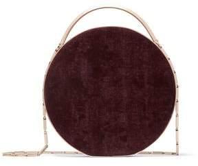 Eddie Borgo Chet Leather-Trimmed Brushed-Twill Shoulder Bag