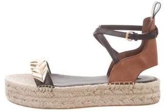 Louis Vuitton Leather Espadrille Sandals