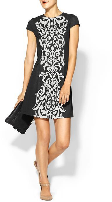 Pim + Larkin Jacquard Inset Dress
