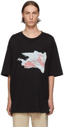 Maison Margiela Black Destroyed Tab T-Shirt