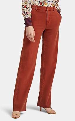 Officine Generale Women's Celeste Cotton Moleskin Trousers - Rust