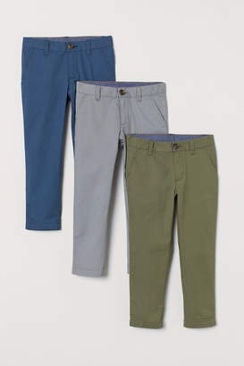 H&M 3-pack Chinos