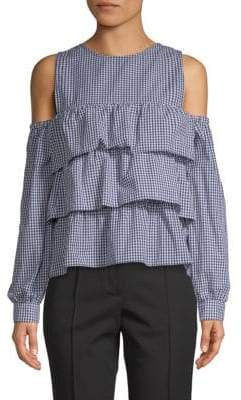 LIKELY Tatum Gingham Cotton Top