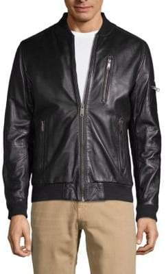 Rogue Leather Bomber Jacket
