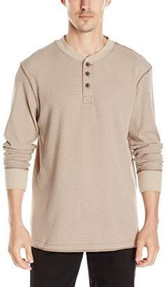 Wrangler Authentics Men's Big & Tall Long Sleeve Waffle Henley
