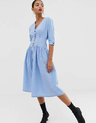 Asos Design DESIGN cotton midi dress