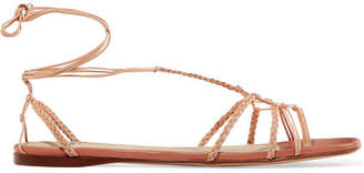 Francesco Russo Braided Leather Sandals - Neutral