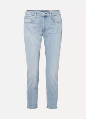 Rag & Bone Ankle Dre Cropped Slim Boyfriend Jeans - Light denim