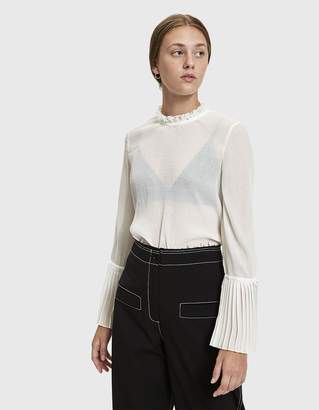 Just Female Jeanne Sheer Blouse