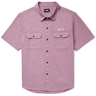 Stussy Embroidered Cotton Shirt