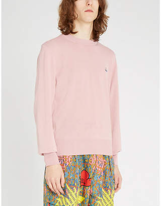 Vivienne Westwood Logo-embroidered cotton jumper