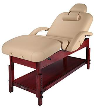 Master Massage Claudia Stationary Massage Table with Pneumatic Tilting Backrest and Leg Rest