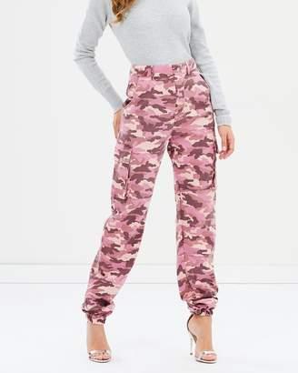 Missguided Premium Camo-Printed Cargo Trousers