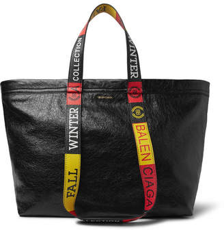 Balenciaga Arena Small Creased-Leather Tote Bag