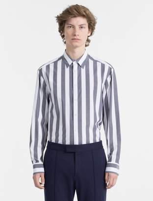Calvin Klein slim fit block stripe shirt