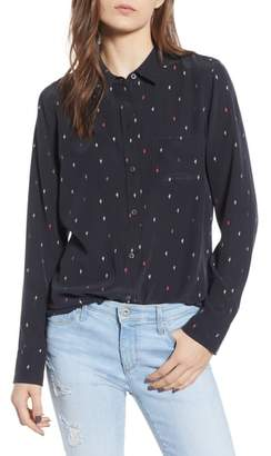Rails Kate Print Silk Blouse